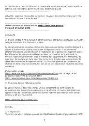 n°23 - 19 juillet 2002 - Délégation interministérielle à la ville