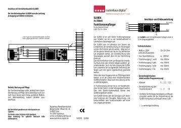Anleitung zum Funktionsempfänger SLX804 - MDVR