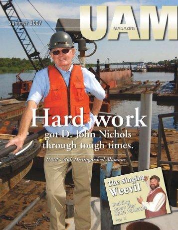 Summer 2007 - Hard work - University of Arkansas at Monticello