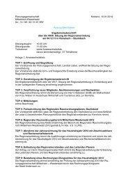 14 146- 52-13 /41 MW -Auszug Beschlüsse - Planungsgemeinschaft ...