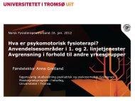 Foredrag NFF 16. jan11.pdf - Norsk Fysioterapeutforbund