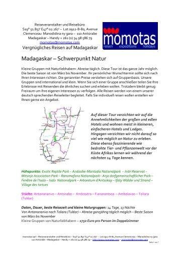 Madagaskar – Schwerpunkt Natur 14 Tage 2013 - momotas ...