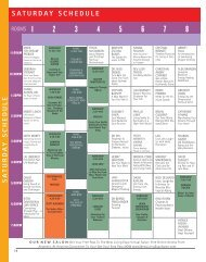 SATURDAY SCHEDULE - New Living Expo