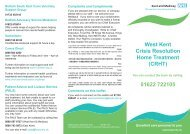 Maidstone and South West Kent Crisis Resolution Home Treatment ...