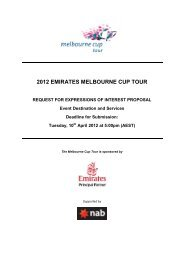 2012 EMIRATES MELBOURNE CUP TOUR