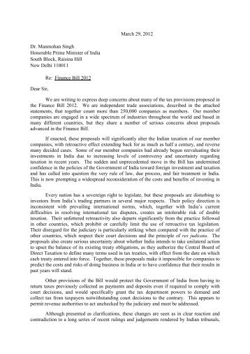 Association Letter - U.S. Council for International Business