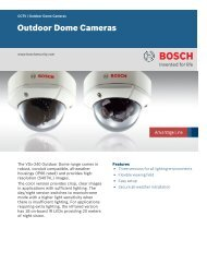 Outdoor Dome Cameras - Bosch Security Systems