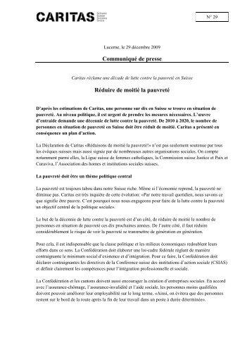 Caritas_Suisse_ md2009_29_pauvrete_f - Armut halbieren