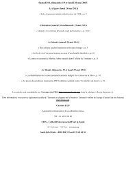 Samedi 18, dimanche 19 et lundi 20 mai 2013 - CISS Bretagne