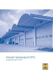 Industri-takskjutport DPU - Hörmann