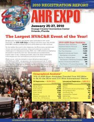 2010 Attendee Registration Report from the AHR Expo in Orlando ...