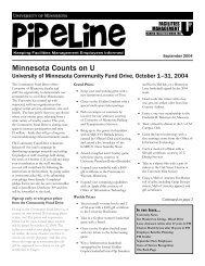 September 2004 - Facilities Management - University of Minnesota