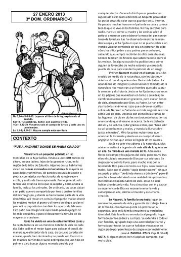 27 enero 2013 3º dom. ordinario-c contexto - Escucha de la Palabra