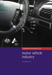 GUIDELINES FOR PRICING IN THE motor