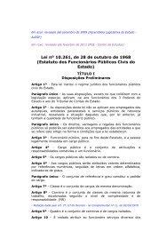 Estatuto dos Funcionários Públicos Civis do Estado - Procuradoria ...