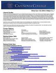 What Can I Do With A Major In Liberal Studies - CazNet > Home ...