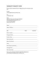 Warranty Request Form 9-13-12 - AeroTech