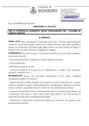 ordinanza 23/2010 per il controllo numerico della ... - PiccionInforma