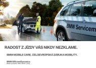 Podmínky BMW Mobile Care pro vozy BMW