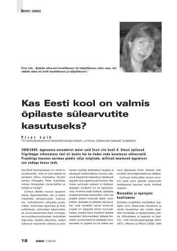 Kas Eesti kool on valmis õpilaste sülearvutite kasutuseks? - Haridus