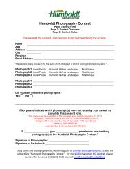 Humboldt Photography Contest - City of Humboldt