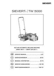 hot-air automatic welding machine 299001 400 v - Sievert AB