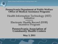 Health Information Technology (HIT) - Pennsylvania Association of ...