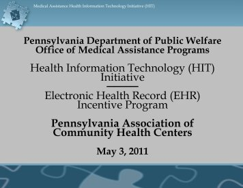 Health Information Technology (HIT) - Pennsylvania Association of ...