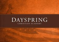 View Book - Dayspring Christian Academy