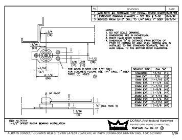 dorma 8616 installation instructions