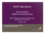 SHOP Operations - State Coverage Initiatives
