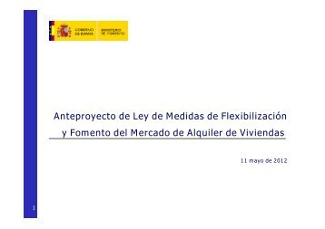 Anteproyecto de Ley de Medidas de Flexibilización y ... - La Moncloa