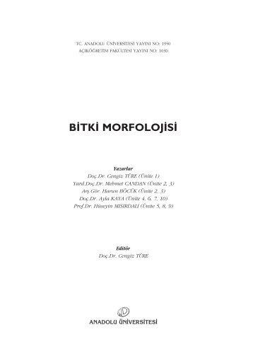 B‹TK‹ MORFOLOJ‹S‹