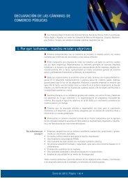 Manifiesto Cámaras Públicas Europeas - Cámara de Comercio de ...