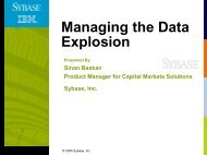 Managing the Data Explosion - Sybase