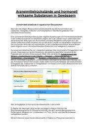 Arzneimittelrückstände und hormonell wirksame Substanzen i-205