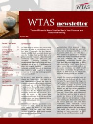 WTAS newsletter