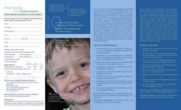 Registration - CHU Sainte-Justine - SAAC