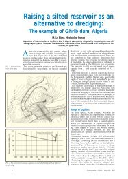 Raising a silted reservoir as an alternative to dredging: - Hydroplus