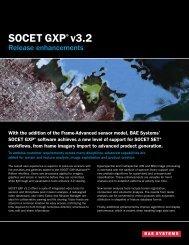 SOCET GXP®v3.2 - BAE Systems GXP Geospatial eXploitation ...