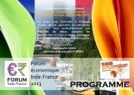 programme Forum Inde France