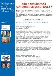 Program - Slovenská inovačná a energetická agentúra