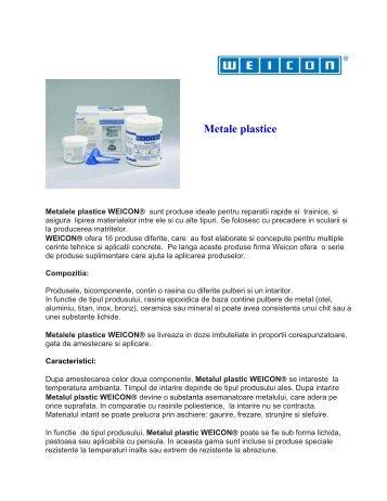 WEICON Metale Plastice - General - Weicon.com