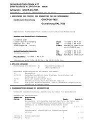 SICHERHEITSDATENBLATT Artikel-Nr.: GR-EP-2K-7035 GR-EP-2K ...