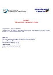 Formulário Pessoa Jurídica: Organização / Empresa - INPE-DGI