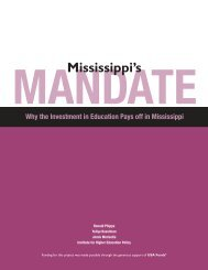 Mississippi's Mandate - Institute for Higher Education Policy (IHEP)