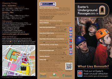 2013/14 Underground Passages Leaflet - Exeter City Council