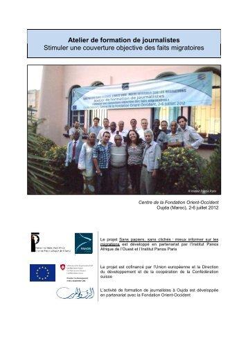 Atelier de formation de journalistes - Institut Panos Paris