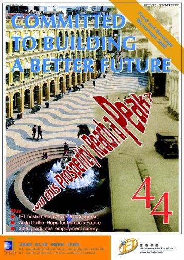 44th Issue (October - December 2007) - Institute for Tourism Studies