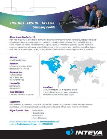 Inteva Company Overview (English) - Inteva Products